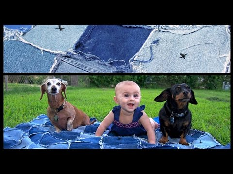 Perfect Picnic Blanket DIY | Denim Rag Quilt | Whitney Sews