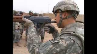 U.S. Army Training Iraqi National Police on Zeroing AK-47 Rifle