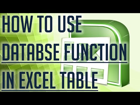 [Free Excel Tutorial] HOW TO USE DATABASE FUNCTIONS  IN EXCEL TABLE - Full HD