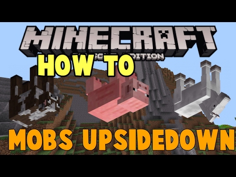 Minecraft: Xbox 360 - How to turn mobs upside down! [easter egg]
