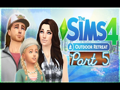 Let's Play The Sims 4: Outdoor Retreat (Part 5) - Eating Beetles for Two