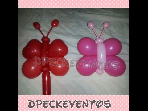 Como hacer una mariposa - How to make a Butterfly balloons - tutorial