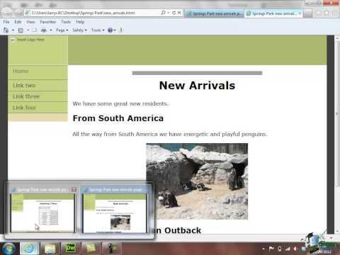Dreamweaver CS6 Training - Part 20 - Hyperlink Dialogue Box - Creating a Website Course