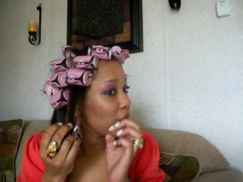 HOT ROLLERS and BLACK HAIR!! part2