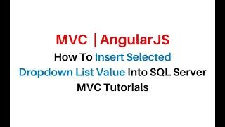 MVC Insert And Display Records AngularJS asp net c#4 6