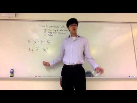 Solving Exponentials with Logarithms (8-4-3)