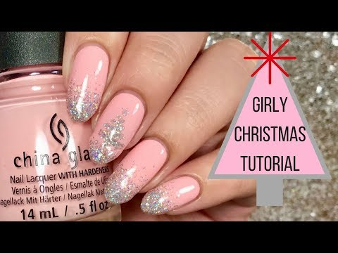✨ Girly Glitter Christmas Nail Tutorial | Day 3 of my 12 days of Christmas! ✨