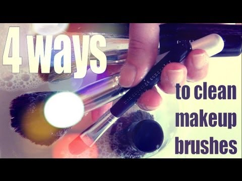 DIY Beauty ♥ 4 Ways to Clean Makeup Brushes