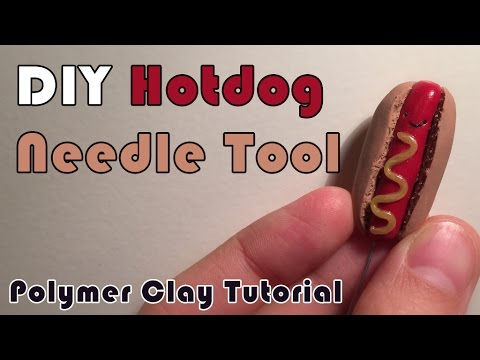 DIY Hotdog Needle Tool! - Polymer Clay Tip/Trick/Tutorial