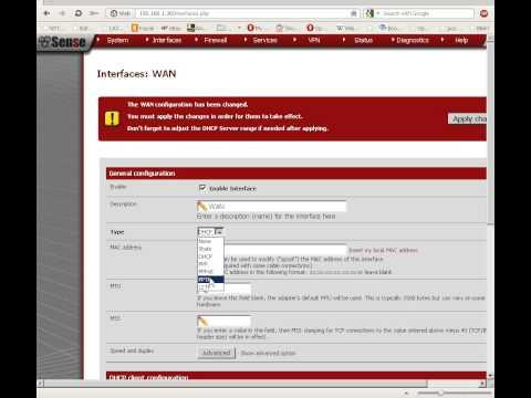 How to configure WAN settings in pfSense 2.0