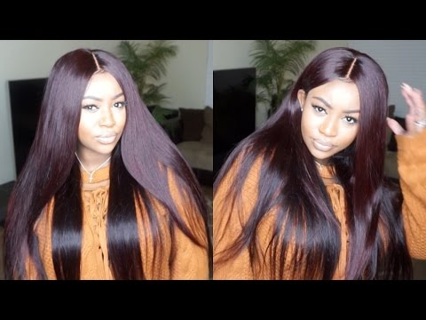 HOW TO COLOR HAIR BURGANDY TUTORIAL | BRAZILIAN BODY WAVE | FEAT. ISEE HAIR