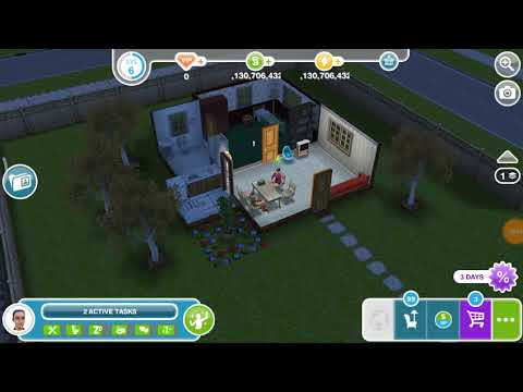 Rest your eyes on a couch - the Sims freeplay 😸