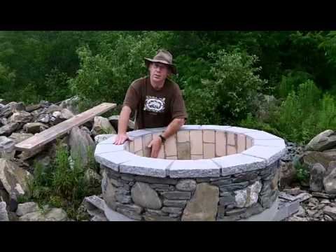 Completed Custom Firebrick & Stone Fire Pit