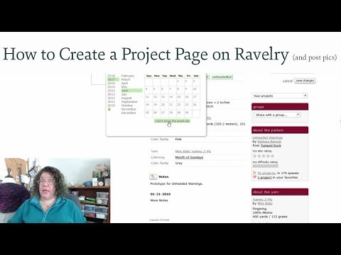 How To Create a Ravelry Project Page (and post pictures)
