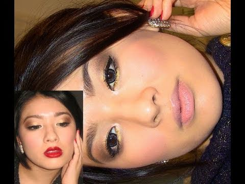 New Years Golden Elegance to Glam Makeup