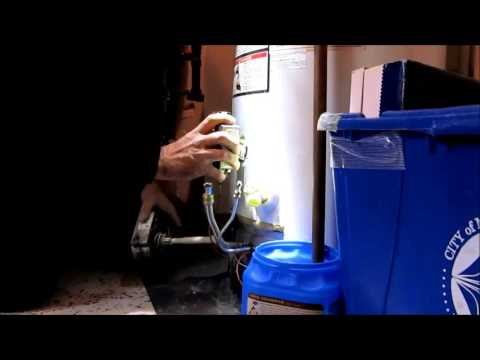 Changing a water heater gas valve on the fly