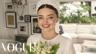 watch miranda kerrs fairytale wedding dress fitting vogue