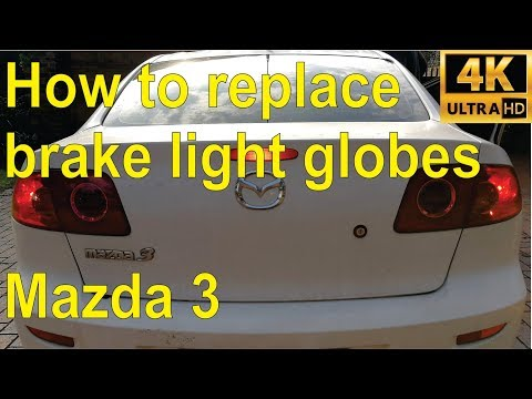 How to change your brake and park light bulbs on a Mazda 3