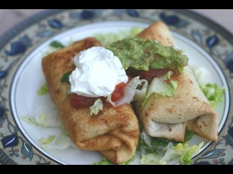 How To Make Chicken Chimichangas Both Fried And Oven Baked by Rockin Robin
