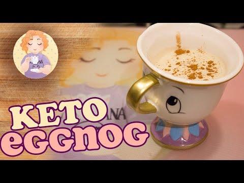 Keto EggNog Recipe with Rum and Non-alcoholic Option (Zabaione) Low Carb Sugar Free Tasty