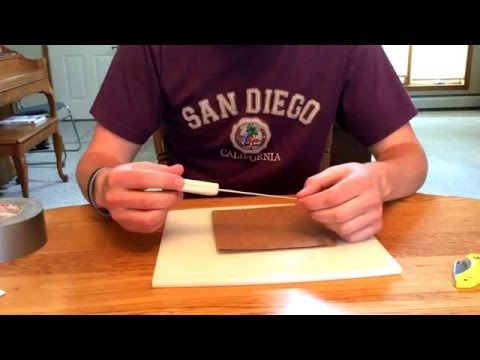 Awesome Cheap Temporary Waterproof Knife Sheath - tutorial - made from duct tape and cardboard
