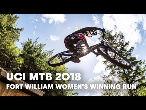 Who won the women's downhill final at Fort William?   UCI MTB 2018