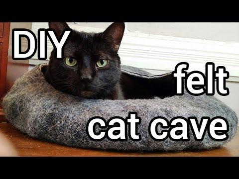 How to Make Felt Cat Cave : DIY