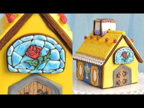 DISNEY BEAUTY AND THE BEAST GINGERBREAD HOUSE by HANIELA'S