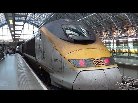 London St Pancras to Paris with beautiful  EUROSTAR train June 2014