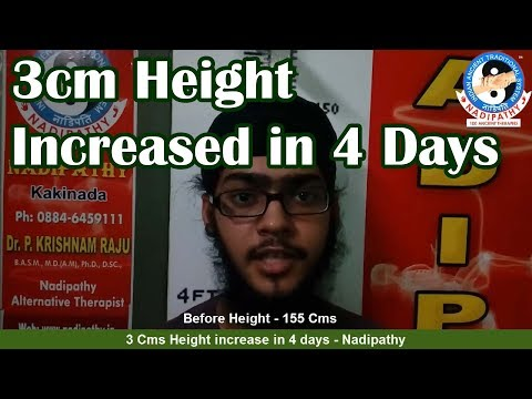 3 Cms Height increase in 4 days - Nadipathy