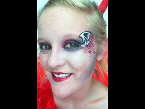 DEVIL WINGS HALLOWEEN MAKEUP
