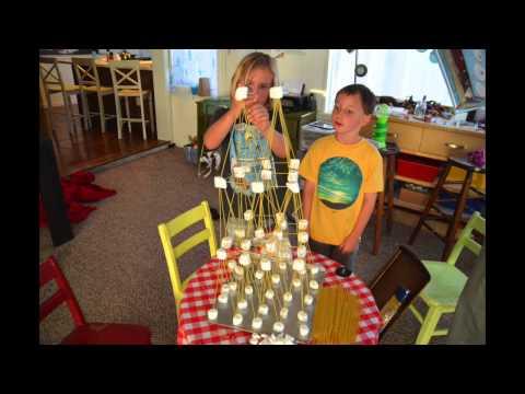 Spaghetti and Marshmallow Eiffel Tower