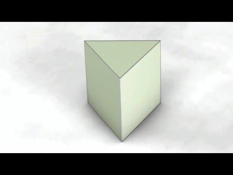 Net of Solid Shapes - Triangular Prism / Трикутна призма / Треугольная призма