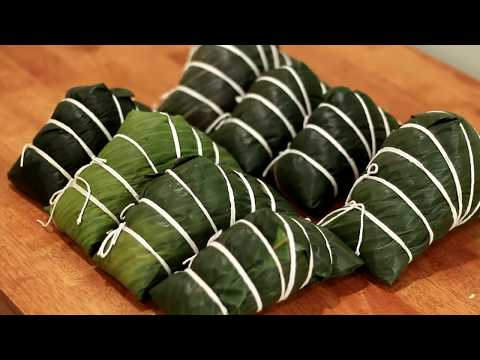 广西大肉粽的包法 - 民间手艺,过年食物之一