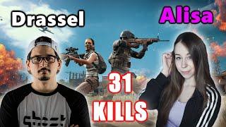 Drassel & Alisa - 31 KILLS - NICE TEAMWORK! - M416 + SKS - DUO - PUBG
