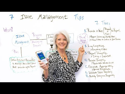 7 Issue Management Tips - Project Management Training