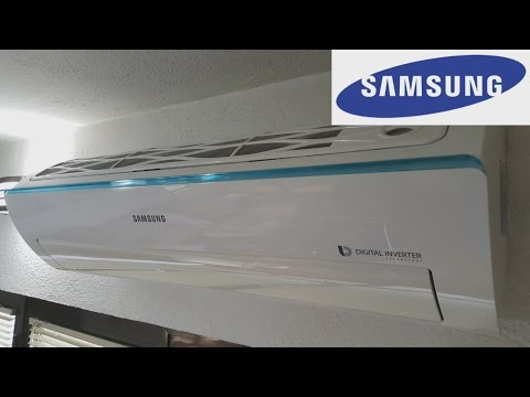 SAMSUNG AC Air Conditioner How remove clean filter 2017