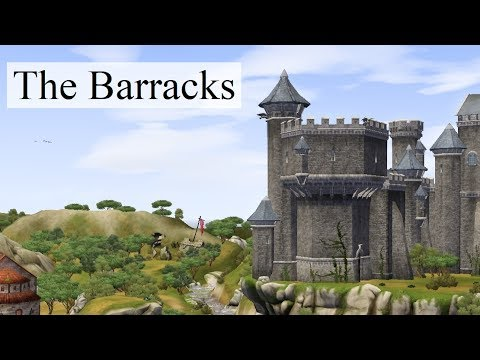 The Sims Medieval and Chill – Furnishing the Barracks (no voice)