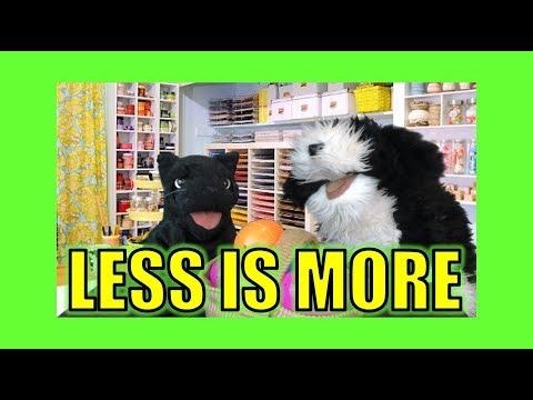 Less Is More!  George the Self Esteem Cat