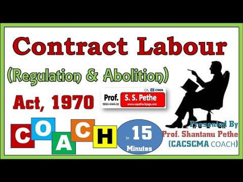 Contract Labour Regulation & Abolition Act 1970