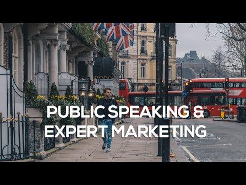 PUBLIC SPEAKING, EXPERT MARKETING LONDON & NEW CLIENTS