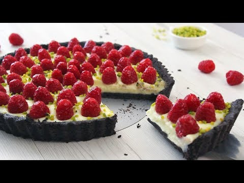 No Bake Raspberry White Chocolate Oreo Tart Recipe | How Tasty Channel
