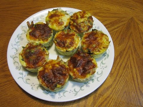 Egg Muffins with spinach, feta cheese, mushrooms and more