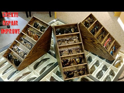 9236c452d0 DIY Chic Display Case - Storage Decor - Used Sunglasses Display ...