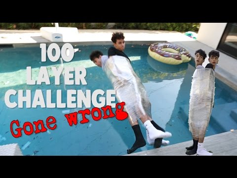 100 Layers of Plastic Wrap GONE WRONG!