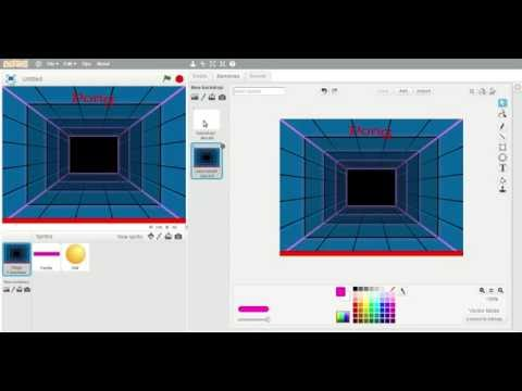 How to make a simple pong game on scratch 2 for kids