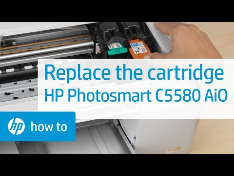 Replacing a Cartridge - HP Photosmart C5580 All-in-One Printer