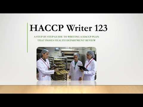 HACCP Writer 123 - HACCP Plan Writing Assistance