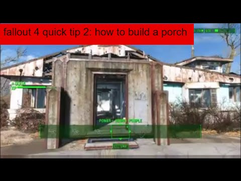 fallout 4 quick tip 2 how to build a porch on sanctuary houses
