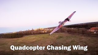 The Chase Is On! FPV Quad Chasing a Wing Part 2 feat. Shelby Voll
